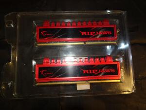 G Skill RIPJAWS DDR3 Memory 8GB ( 2 x 4GB ) 1600. 9-9-9-24.