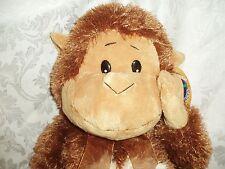"Circus Circus Las Vegas Reno 23"" Brown & Tan Plush Stuffed Monkey with Tags"