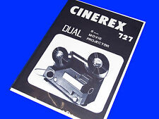 CINEREX 727 Instruction Book For 8mm Cine Projector