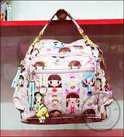 Harajuku Lovers Style Shoulder Bag girls Messenger Bag School Bag with doll
