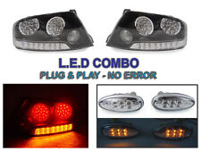 DEPO 03-06 MITSUBISHI LANCER EVO 8/9 BLACK/CLEAR LED TAIL LIGHT +LED SIDE MARKER