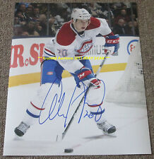 COLBY ARMSTRONG In Action AUTO 11x14 Photo MONTREAL CANADIENS Star PLAYER WoW