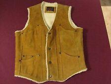 Kingsport leather vest faux fur lined size 38-40