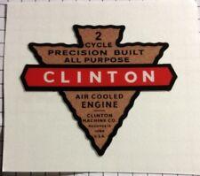Clinton 2 Cycle Engine Maquoketo, Iowa Arrowhead Decal Reproduction