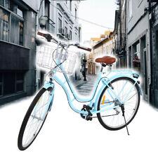 28 Zoll Fahrräder Hellblau Damenrad Stadtrad Fahrrad Frau 28