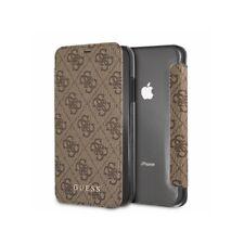 Guess Charms 4G Book Cover Case Back Case Schutzhülle Für iPhone Xs Max Braun