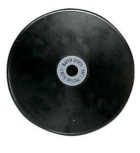 Champion 1.6 kg Rubber Practice Discus, Black
