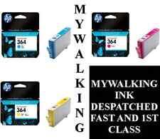 3 X GENUINE HP 364 INK CYAN MAGENTA YELLOW B8550 C5324 C5380 C6324 C6380 D5460