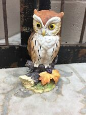 "Great Horned Owl By Andrea Sadek Glass Owl Figurine 3D Pose #6315 6"" Tall #126"