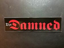 "The Damned Decal Stickers 8"" Punk Rock Band"