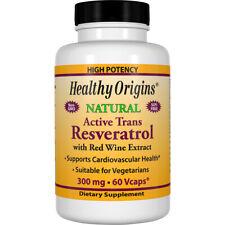 Healthy Origins Active Trans Resveratrol 300 mg 60 Vcaps