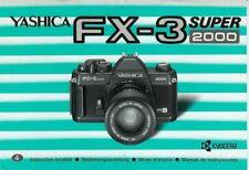 Instruction User's Manual Yashica FX-3 Super 2000 Multilingual