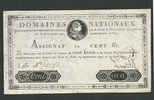 Banknote France, 100 Livres 1791, VF