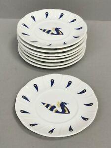 lot de 8 soucoupe en Porcelaine AIR FRANCE - décor PICART LE DOUX
