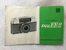Oem Olympus Pen Ee-2 35mm Camera Fold-Out Instructions Manual Guide Book in Eng