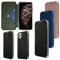 For Apple iPhone 11 Pro Max Premium Leather Slim Magnetic Wallet Flip Case Cover