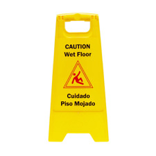 Restaurant Caution Wet Floor Yellow 24 In Folding Sign Commercial And Industrial