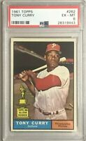 1961 Topps Tony Curry - All-Star Rookie Cup - Philadelphia Phillies - PSA 6