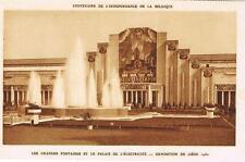 CPA n&b Liège, expo 1930 - les grandes fontaines et le palais de l´électricité