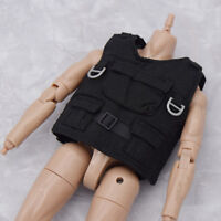 "1:6 Scale Black Tactical Army Bullet Proof Vest Mode for 12"" Action Figure Toy"