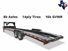 Brand New Texas Pride 7' x 36' Double Car Hauler Trailer, 16k gvwr