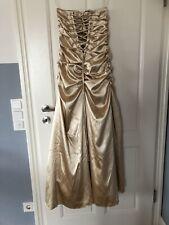 Abendkleid 36 38 Lang Gold Cocktailkleid Ballkleid