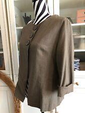 Satsuma London Neutral Mink Linen Large Button Jacket 12