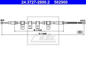 ATE Parking Brake Cable For DAEWOO Lanos 96230545