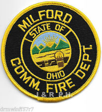 "Milford, OH  (3.5"" round size)  fire patch"