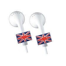 2 x APPLE iPOD/iPHONE/iPAD EARPHONE-EARBUDS *BLING* ACCESSORIES - U.K FLAG