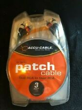 Accu-Cable RC-3 dual RCA to dual RCA 3' patch cable NEW