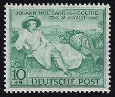 Bizone 108 Goethe 10 Pf. opalgrün ** postfrisch