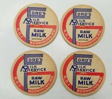 BOONSBORO MD ADVERTISING ~ FORD'S MILK SERVICE ~ MILK BOTTLE CAPS NOS 4 SCARCE