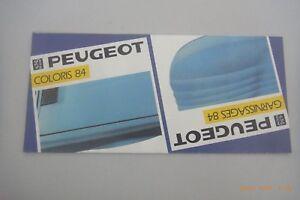 Verkaufsprospekt  ~ Peugeot ~  Coloris `84  /203