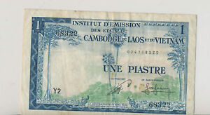 French Indo China 1954 Piastre 94 RC0088 combine