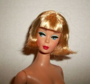 VINTAGE BARBIE BLONDE FLIPPY HAIR AMERICAN GIRL REPRO DOLL BY MATTEL #GG LE