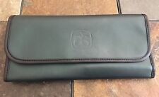 Arbonne 7 Piece Cosmetic Brush Set & Case  - Hunter Green Case - Great Condition