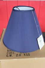 "(6) Table Lights LAMP SHADES Clip-On Bulb 9"" Cone Navy Blue Crafts Bottle Lamps"