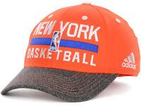 Adidas New York Knicks Hat Flex Fitted Ball Cap NBA Team S/M Orange Climalite