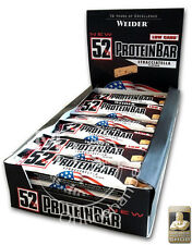 Weider 52% Protein Bar 24x 50g Box (27,67€/Kg) Low Carb Eiweiß Riegel