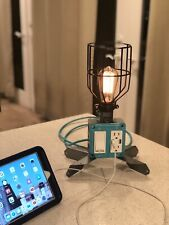 Handmade Edison Industrial style dimmable lamp, outlet with 2 Usb, gift