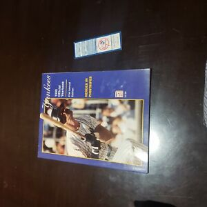 New York Yankees 1990 Yearbook and Ticket Stub