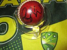 Cameron White (Australia) signed Mini Red Cricket Ball - Photo proof  &  C.O.A
