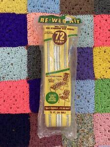 Wellington Re-Web Kit 72 FT  Yellow White Black Stripe. Lawn Chair VTG NEW