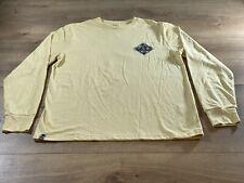 Salty Crew Island Time LS Tech T-Shirt Yellow Mens SZ L NWOT!!