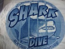 Atlantis Marine World Shark Dive Towel Unisex White Blue McArthur 100% Cotton