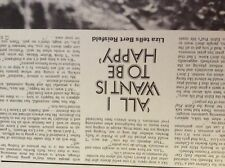 m4-8b ephemera 1970s film article lliza minelli wants to be happy