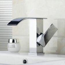 Modern Practical Brass Bathroom Basin Mixer Tap Deck Mount Hot&Cold Faucets