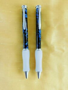 Pierre Cardin Marbleized Blue Ballpoint Pens - New in the Original Box