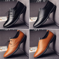 Men's Formal Dress Shoes Genuine Leather Slip On Loafers Casual Boats Fashion